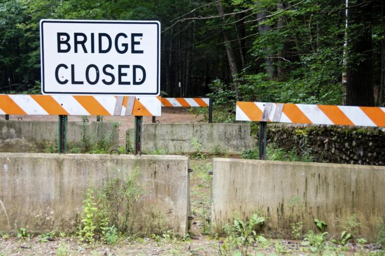 Bridge closed