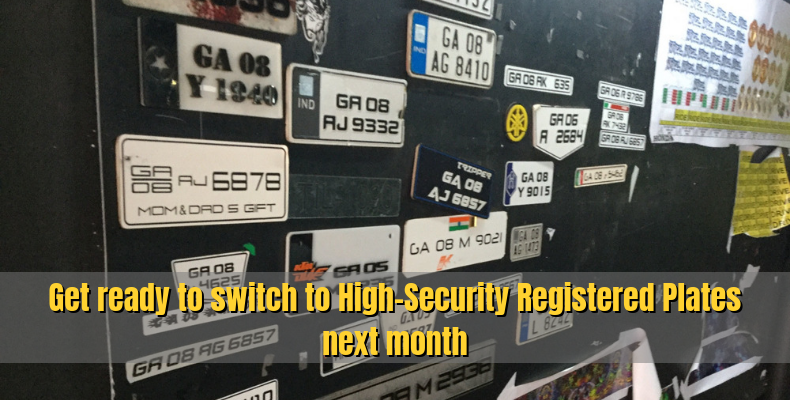 High Security Registered Plates to be installed